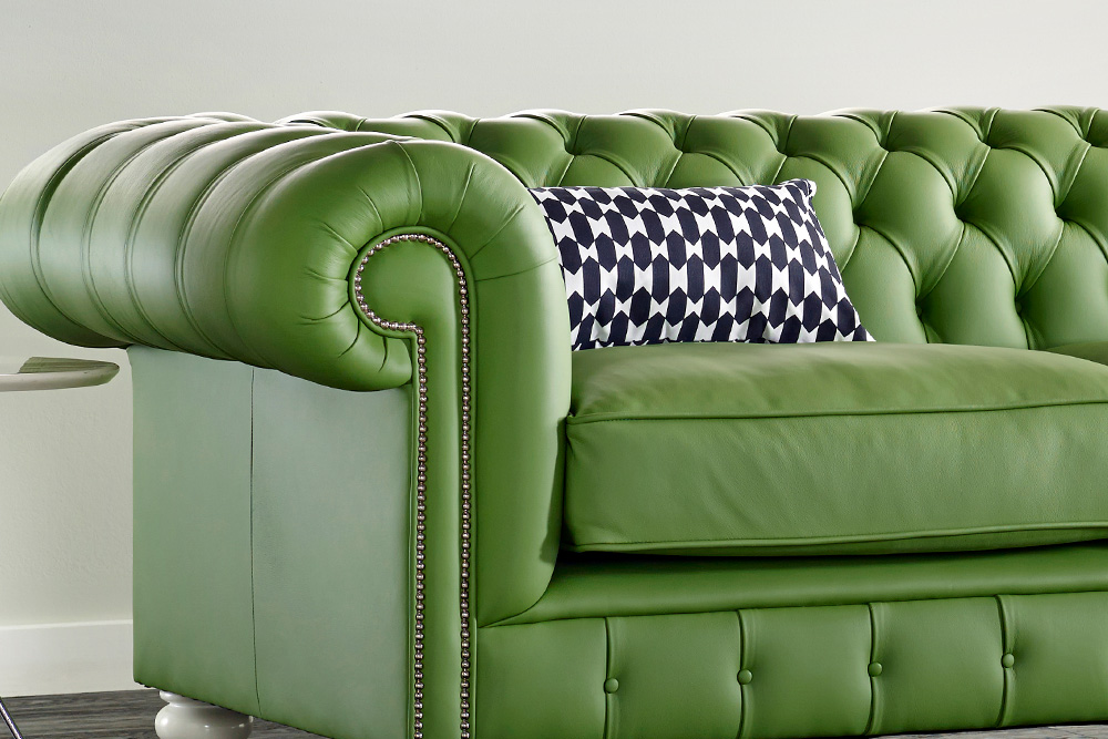 Natural Leather Sofa Modern Green House