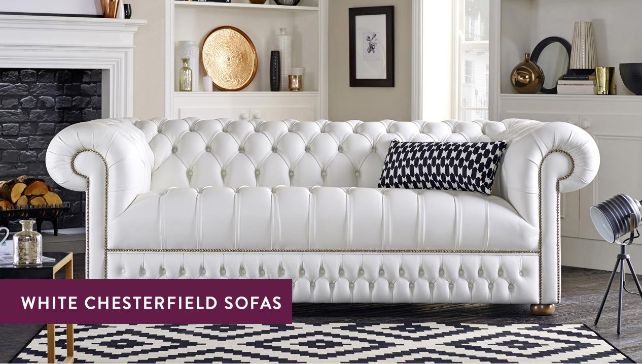 White Chesterfield Sofas Luxury Tufted Styles Sofas By Saxon