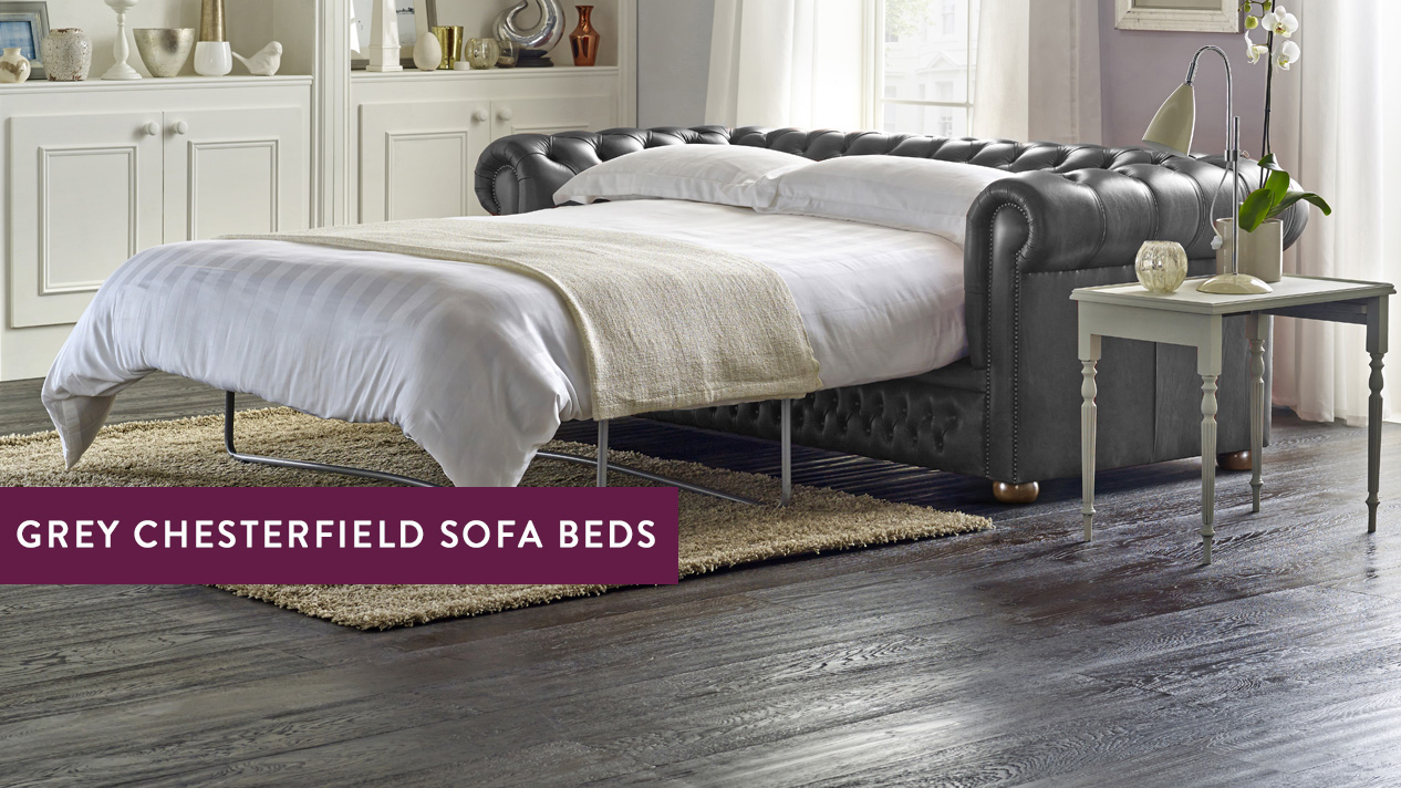 grey chesterfield sofa bed. Black Bedroom Furniture Sets. Home Design Ideas