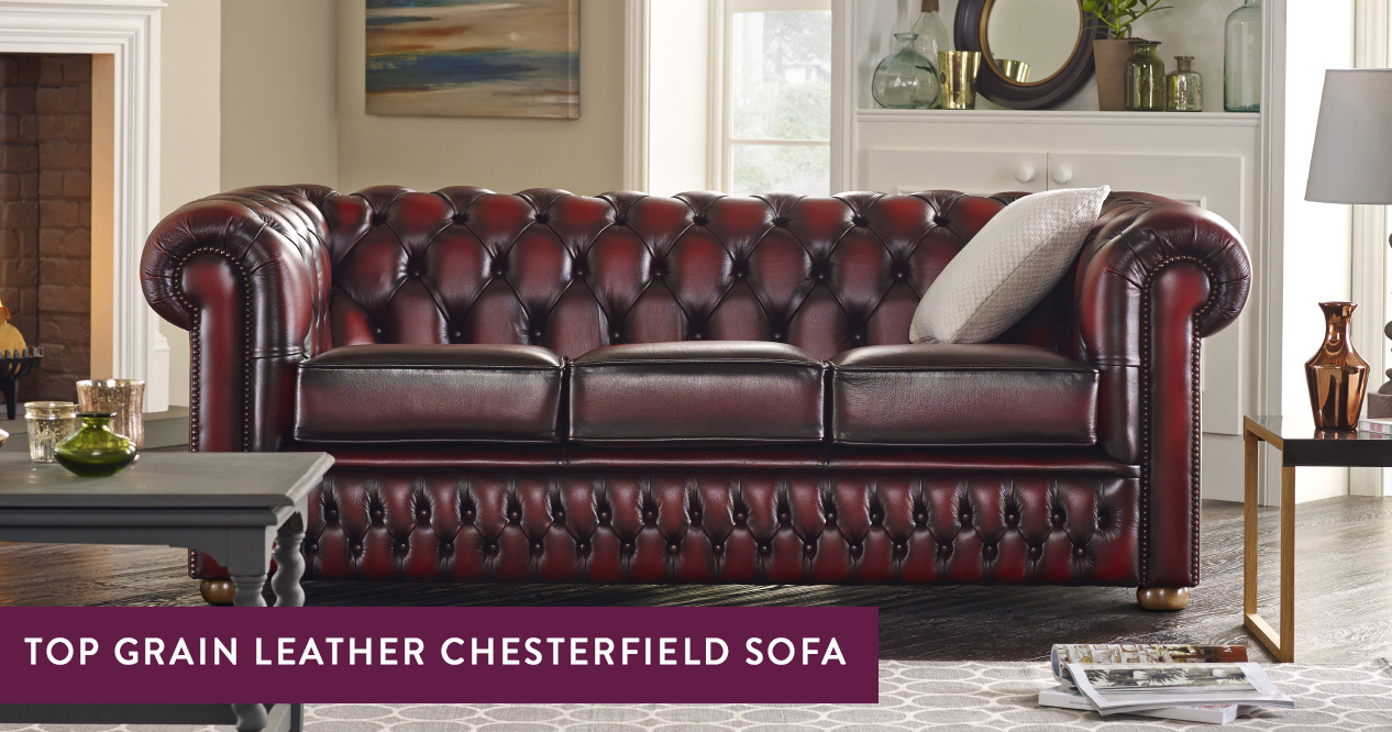Top Grain Leather Chesterfield Sofas Handmade In The Uk