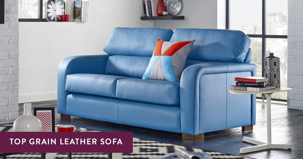 Top Grain Leather Couches Handmade In The Uk Sofas By Saxon