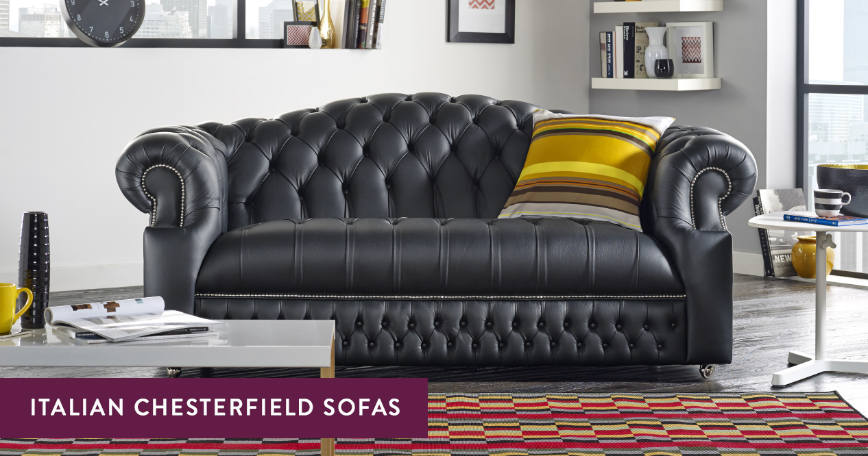 Italian Leather Chesterfield Sofas Handmade In The Uk