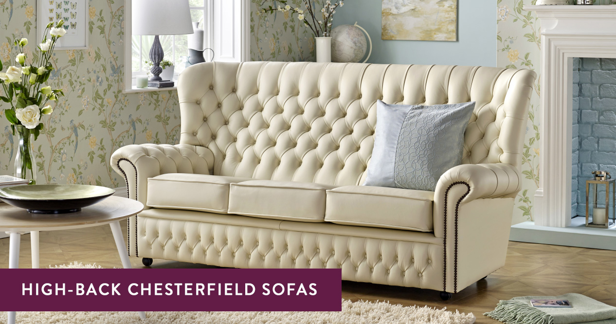 High-Back Chesterfield Sofas – Handmade in the UK | Sofas by Saxon