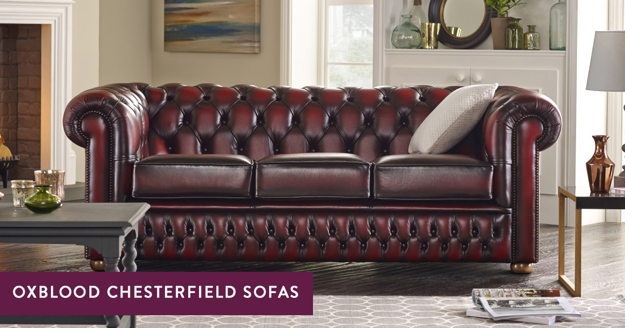 Picture of: Oxblood Chesterfield Sofas Handmade In The Uk Sofas By Saxon