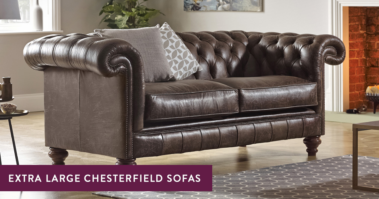 Extra-Large Chesterfield Sofas – Handmade in the UK | Sofas by Saxon