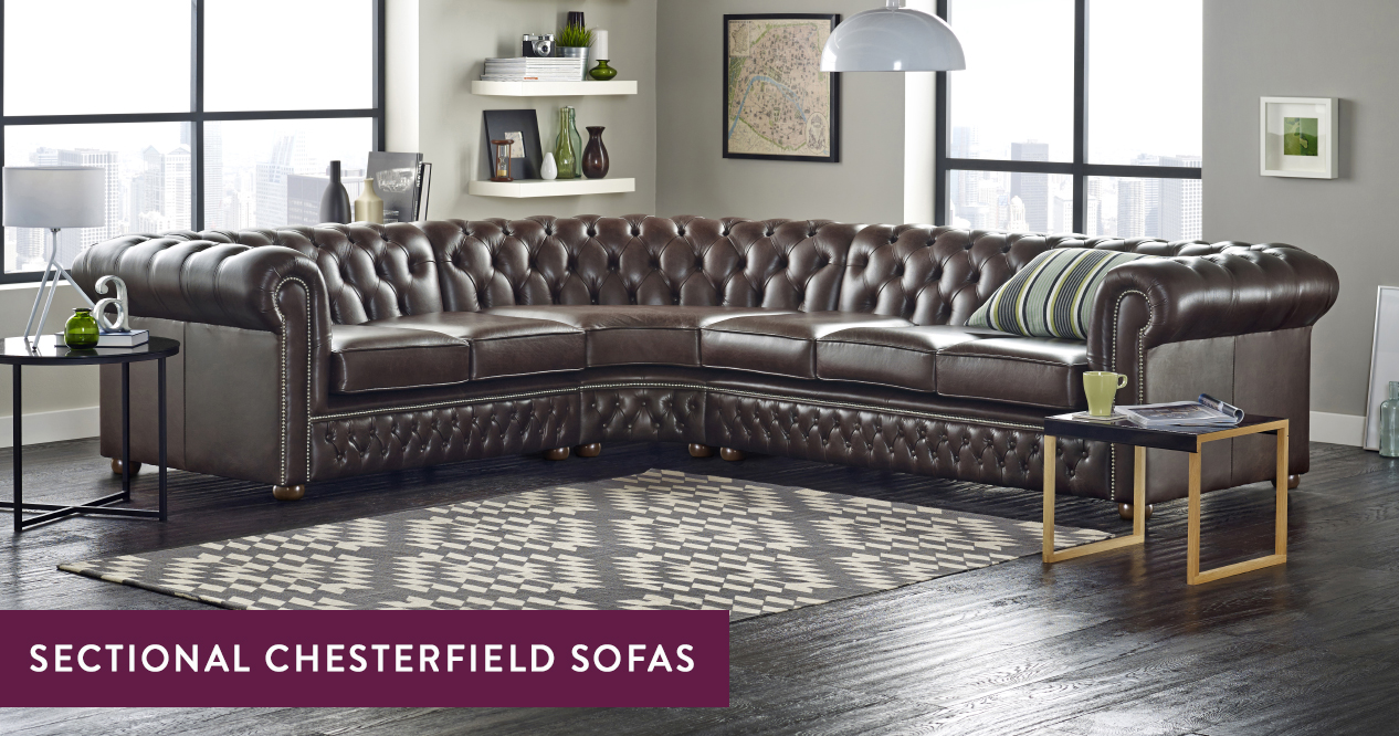 Sectional Chesterfield Sofa Handmade In The Uk Sofas By Saxon