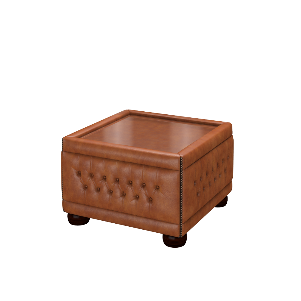 ... Buttoned Pouffe Table In Old English Bruciato ...