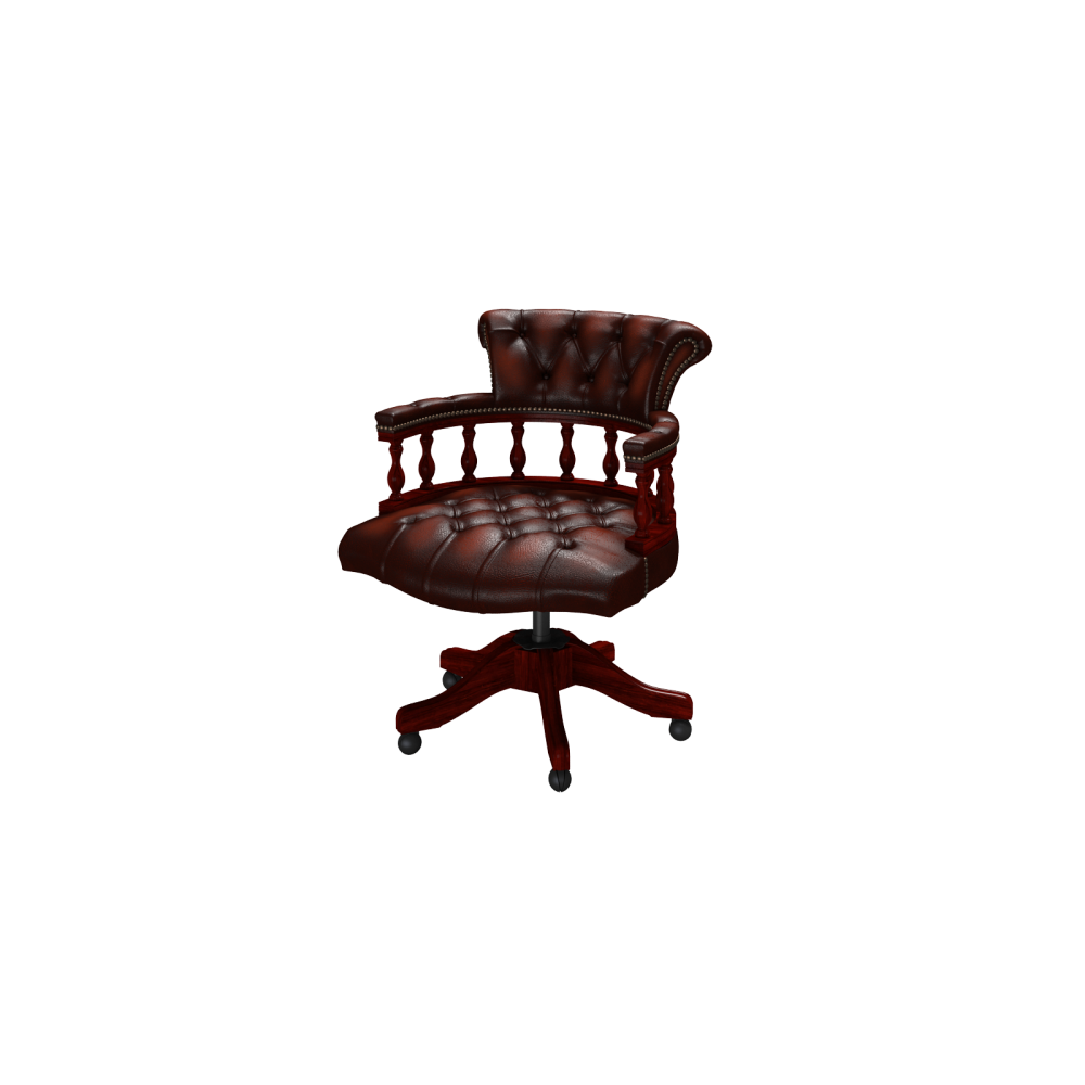 Captains Swivel Chair Antique Chestnut From Sofas By