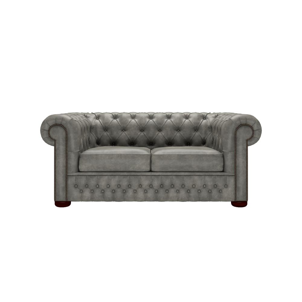 Chesterfield Sofa Saxon: Chesterfield 2 Seater Sofa In Etna Grey