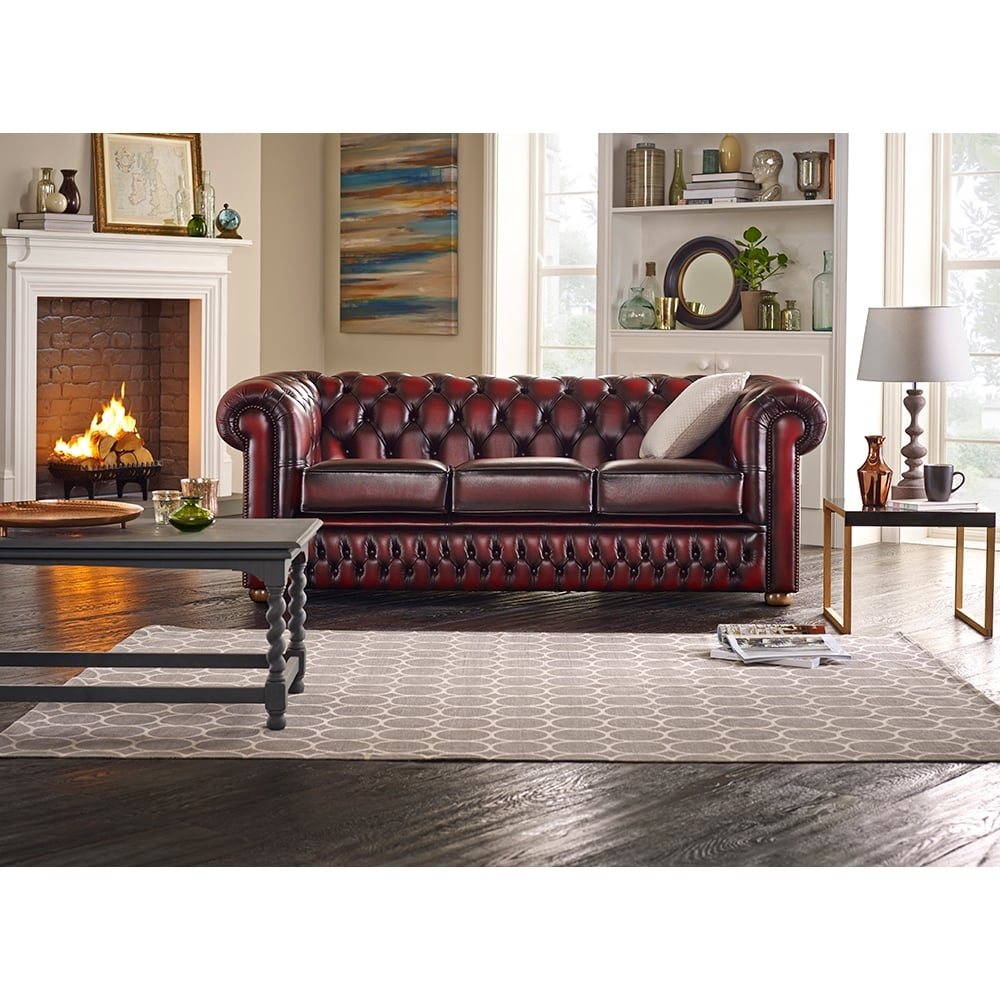 Chesterfield 2 Seater Sofa In Old English Saddle ...