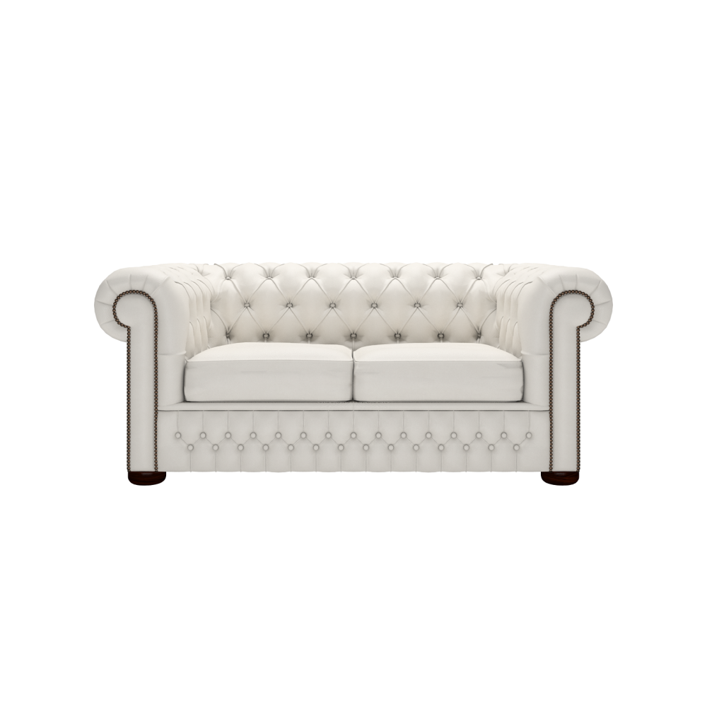 Charmant Chesterfield 2 Seater Sofa In Shelly White