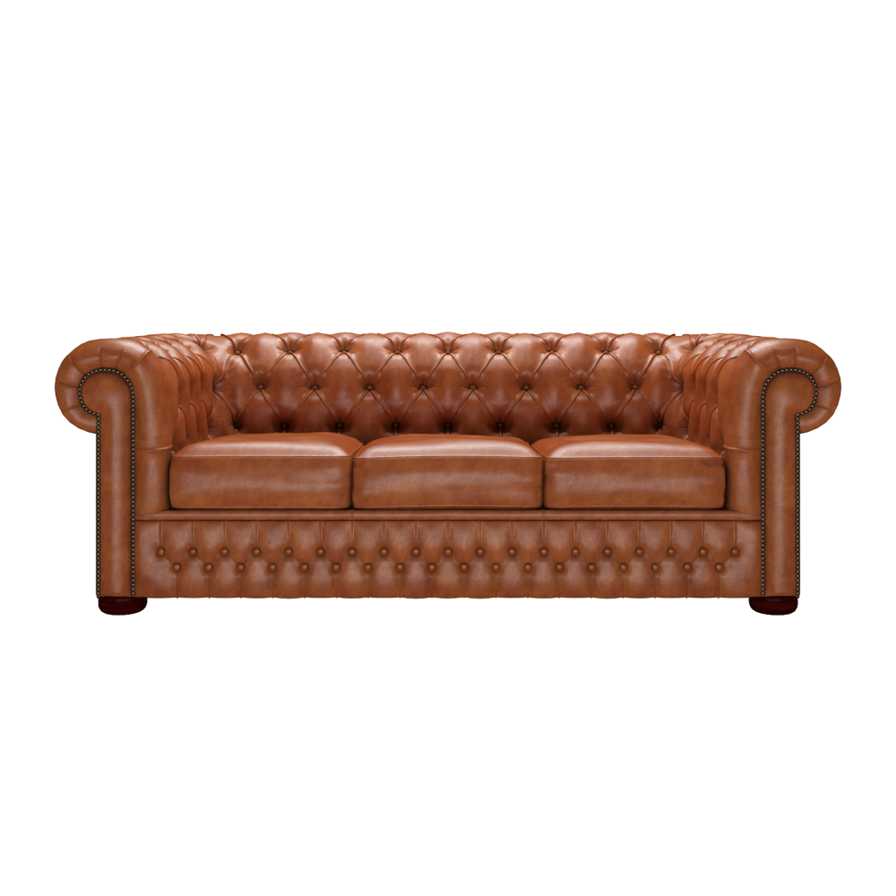 ... Chesterfield 3 Seater In Old English Bruciato ...