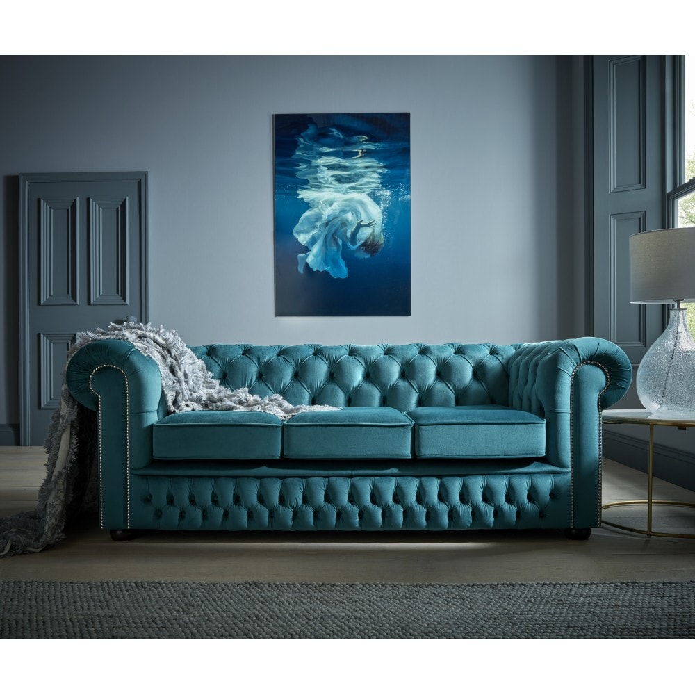 chesterfield 3 seater sofa bed from sofas by saxon uk. Black Bedroom Furniture Sets. Home Design Ideas