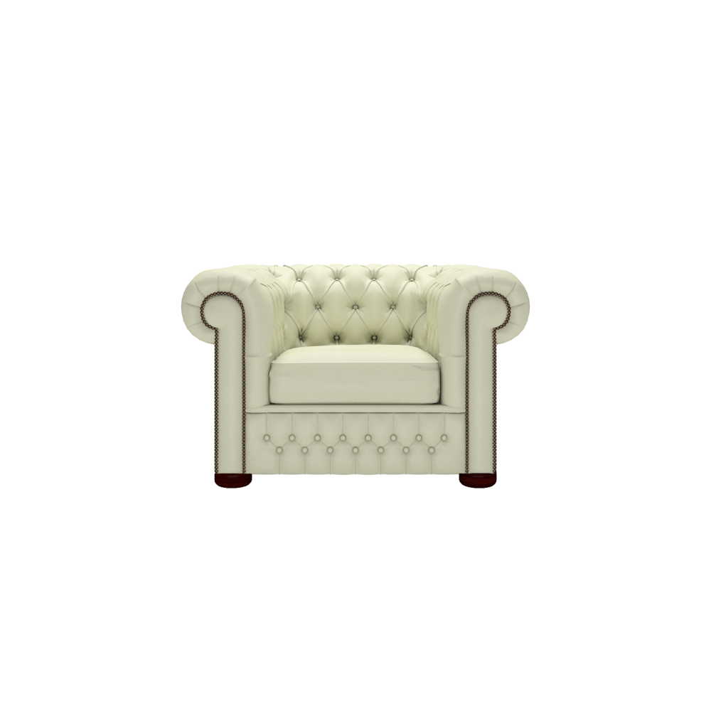 chesterfield chair in shelly cream from sofas by saxon uk