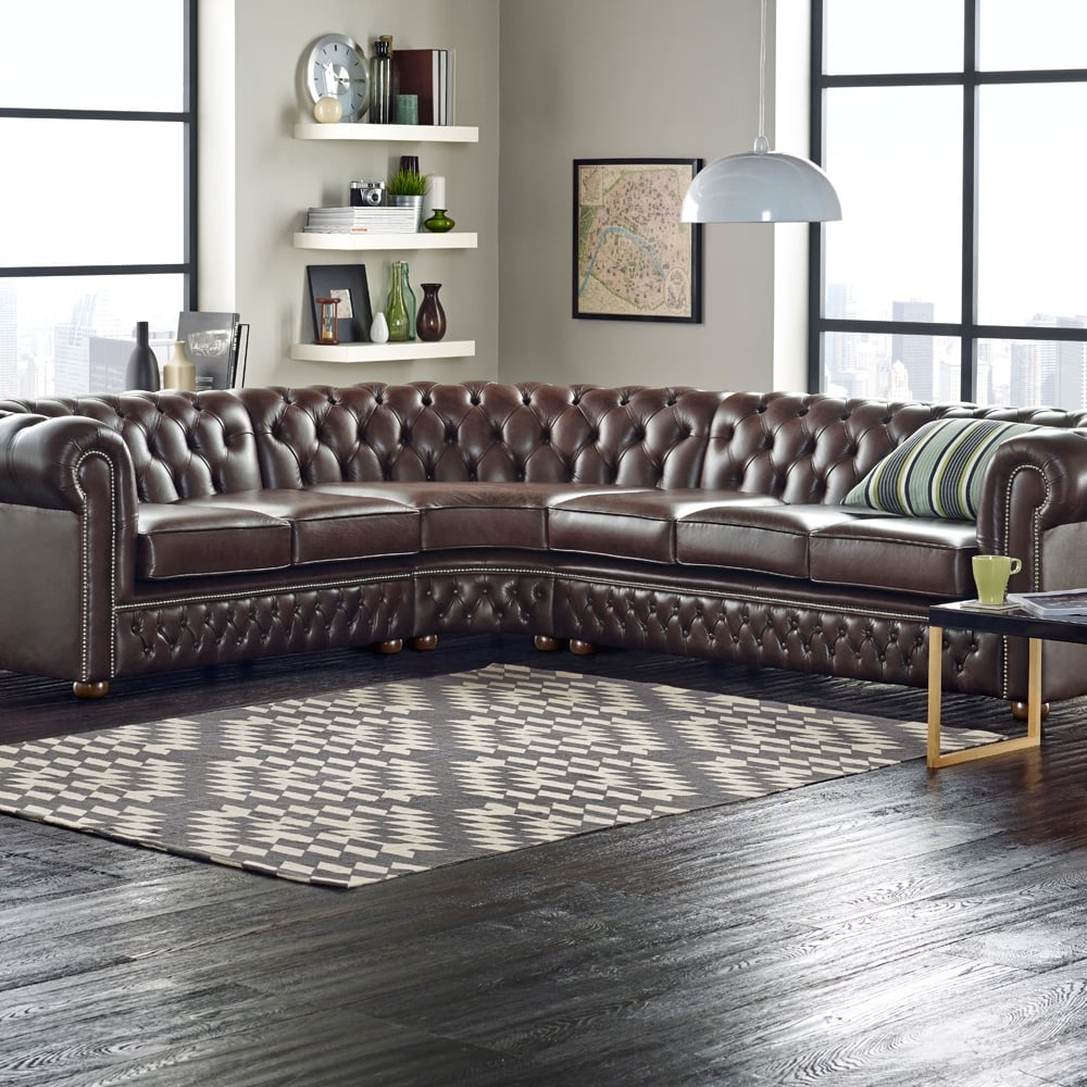 chesterfield corner unit 2x2 from sofas by saxon uk