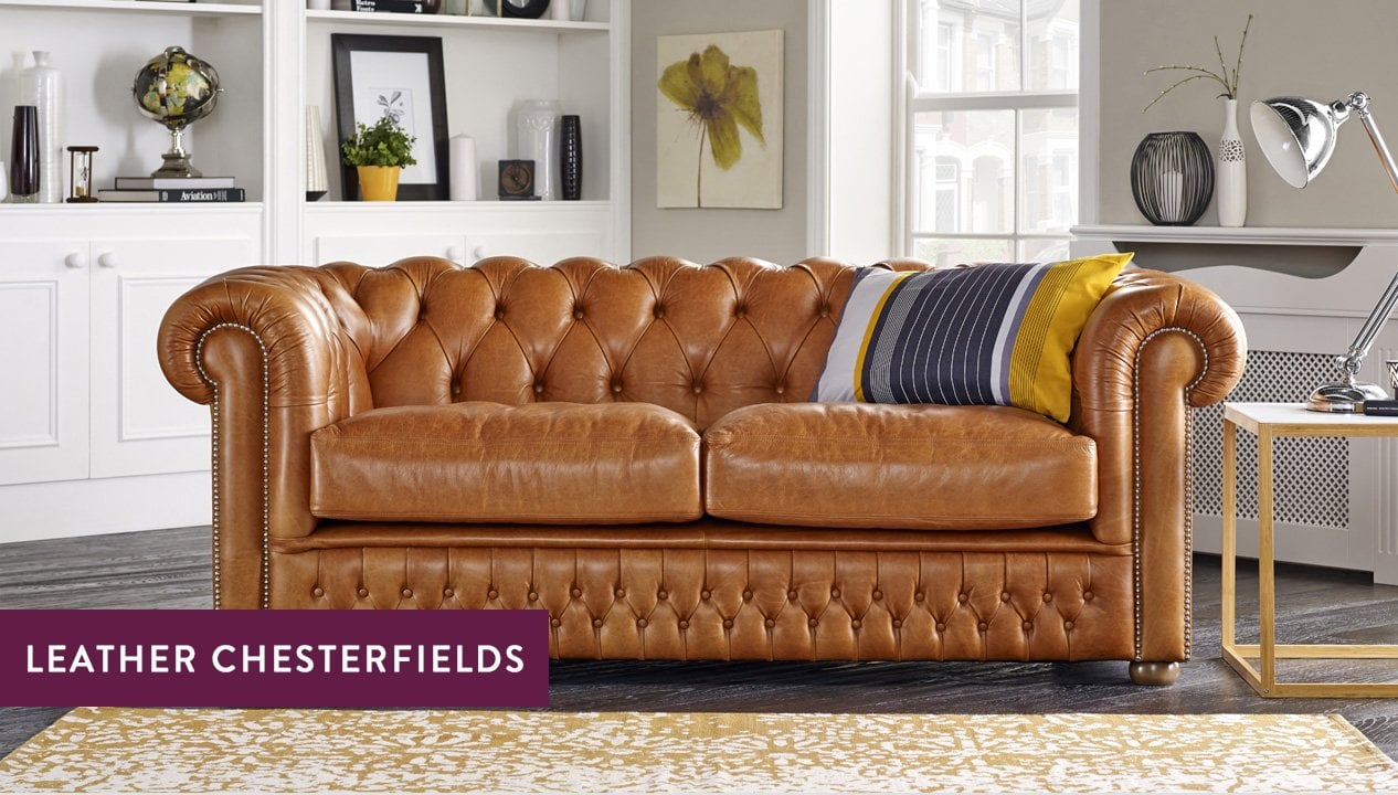 Leather Chesterfield Sofas Luxury Tufted Styles Sofas By