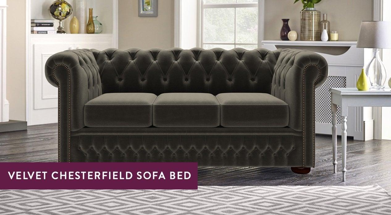 Velvet Chesterfield Sofa Beds Sofas By Saxon