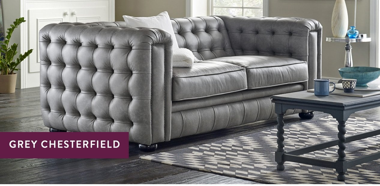 Grey Chesterfield Sofas – Luxury Tufted Styles | Sofas by Saxon