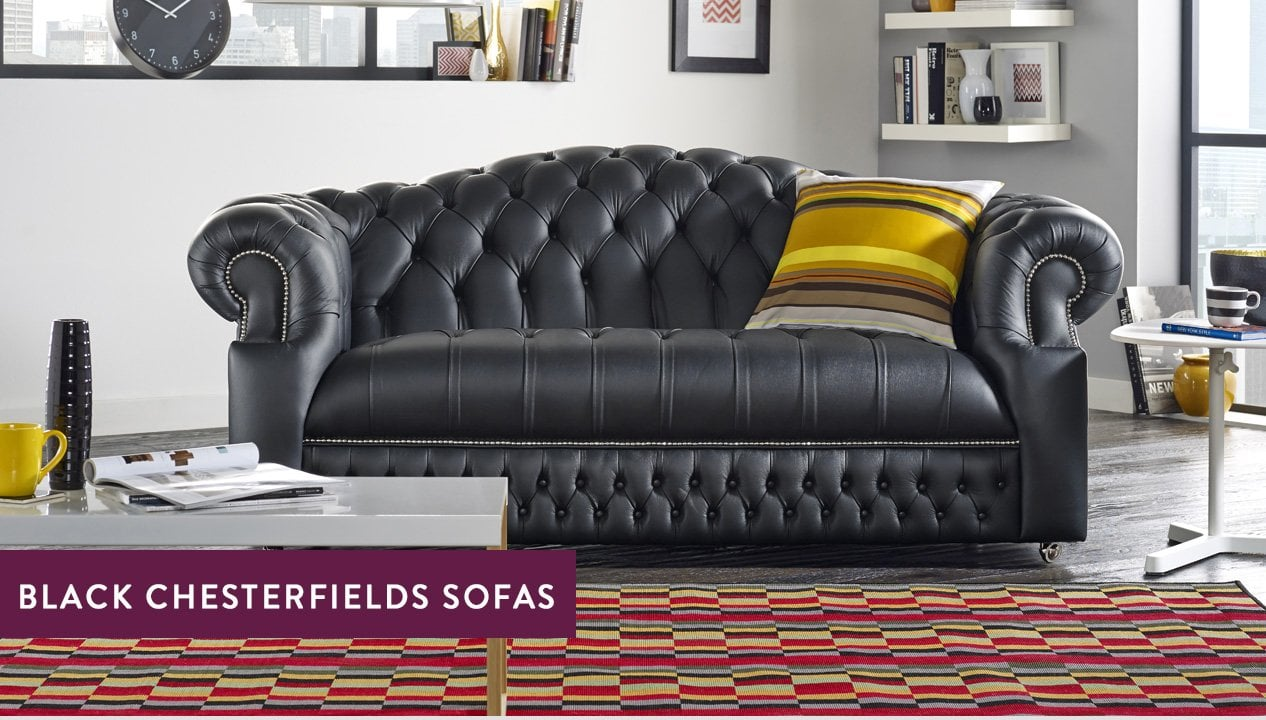 Black Chesterfield Sofas – Luxury Tufted Styles | Sofas by Saxon
