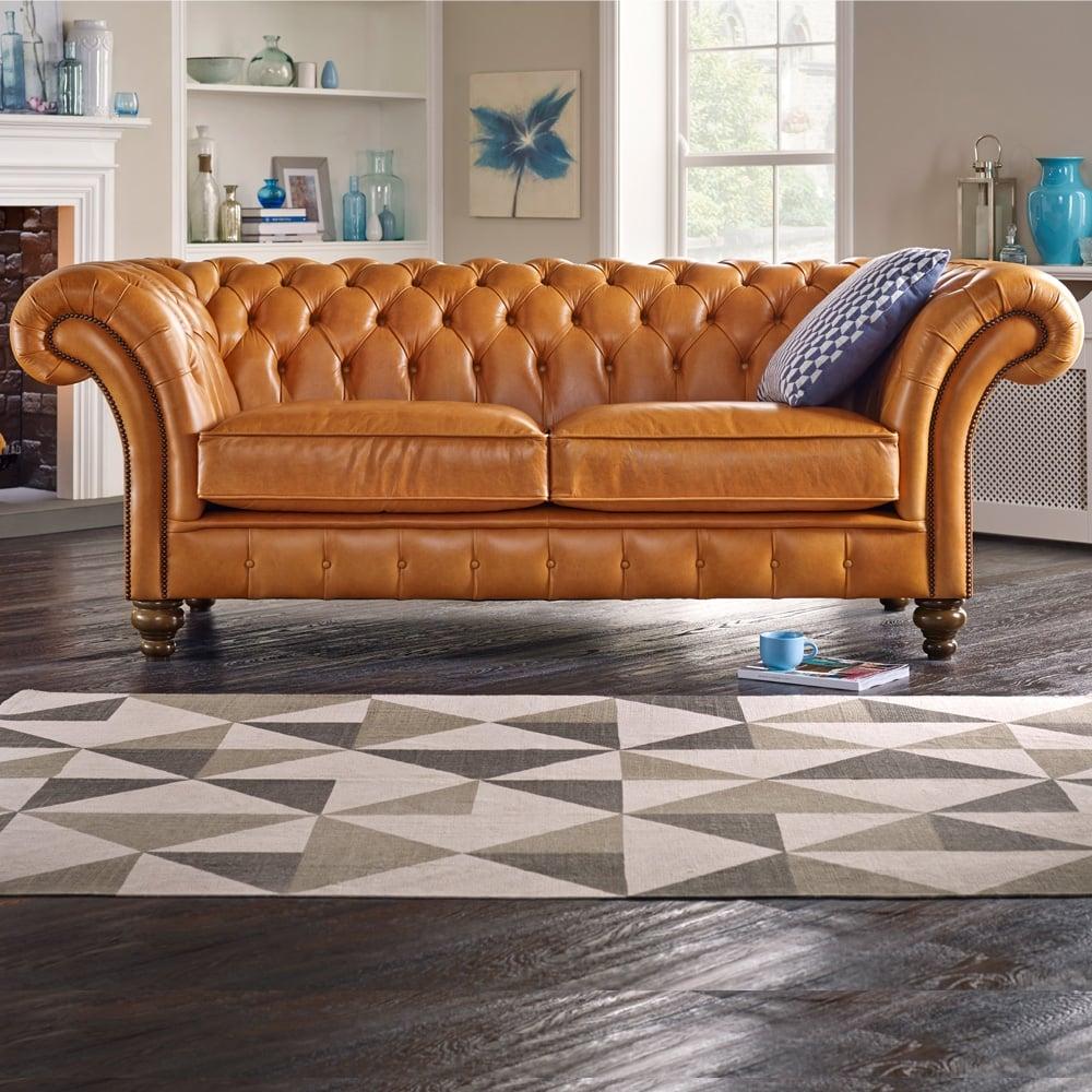 Chesterfield Sofa Saxon: Grosvenor 3 Seater Sofa
