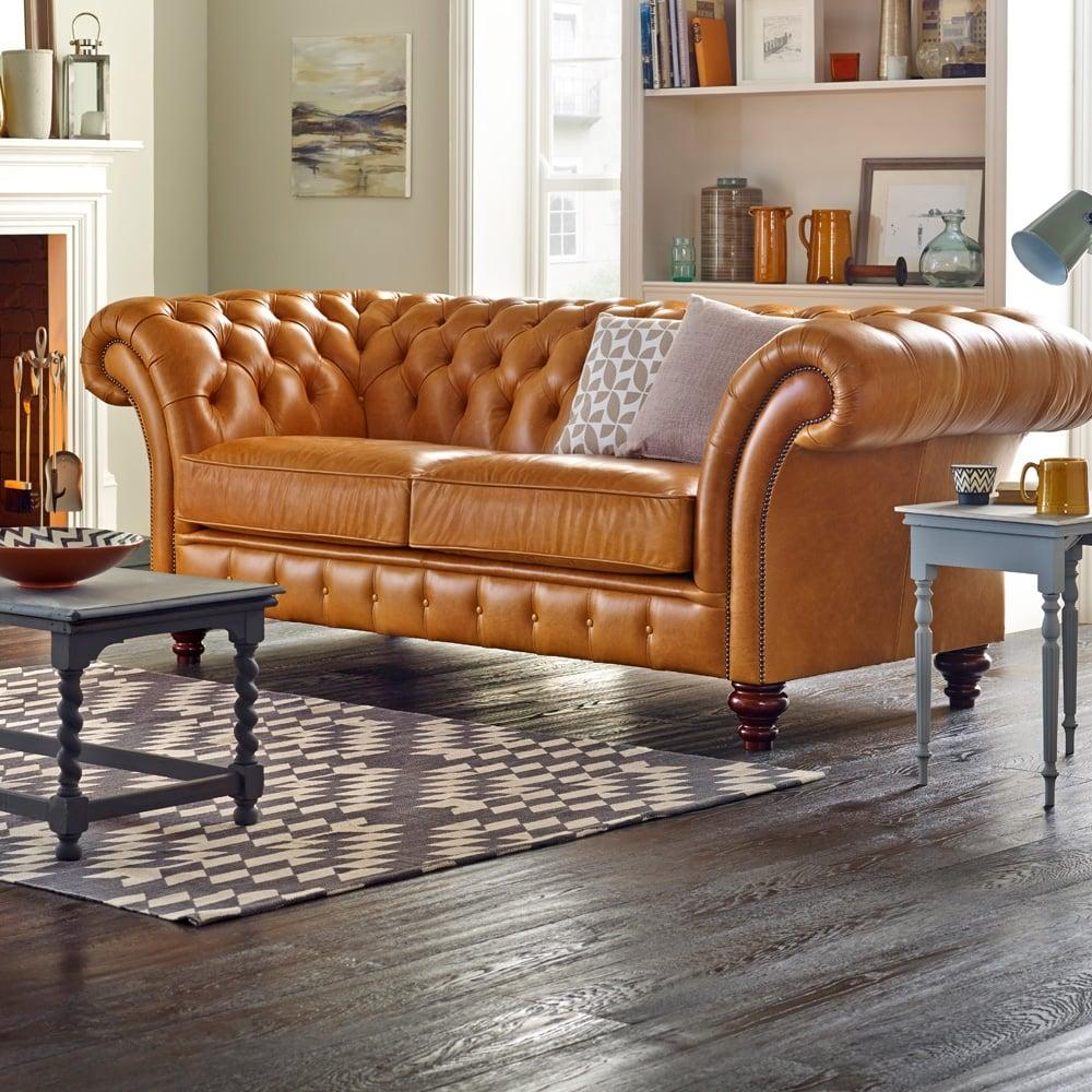 Chesterfield Sofa Saxon: Grosvenor 4 Seater Sofa