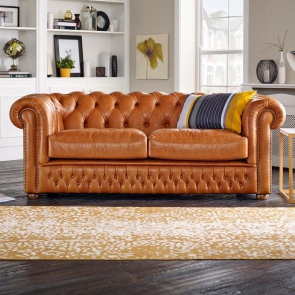 Chesterfield Sofa Saxon: Knightsbridge 3 Seater Sofa