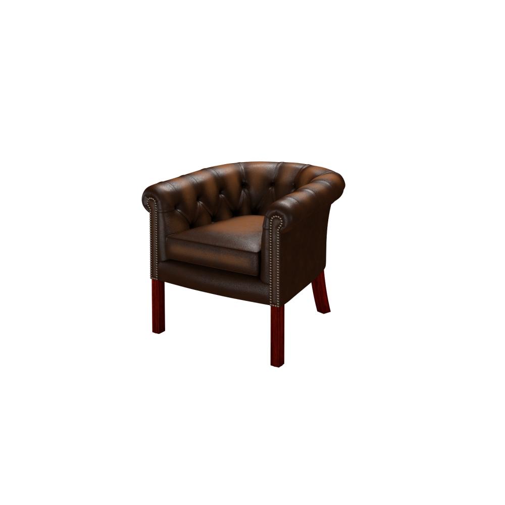 ... Lewis Tub Chair in Antique Autumn Tan ... - Lewis Tub Chair In Antique Autumn Tan - From Sofas By Saxon UK