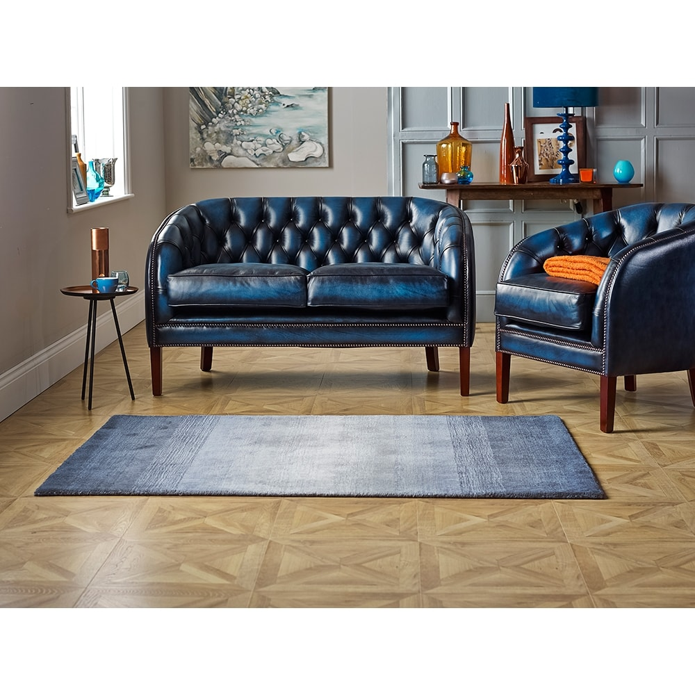 e4487e79d26 Mayfair 2 Seater Sofa in Antique Gold with Dark Oak Legs - from Sofas by Saxon  UK
