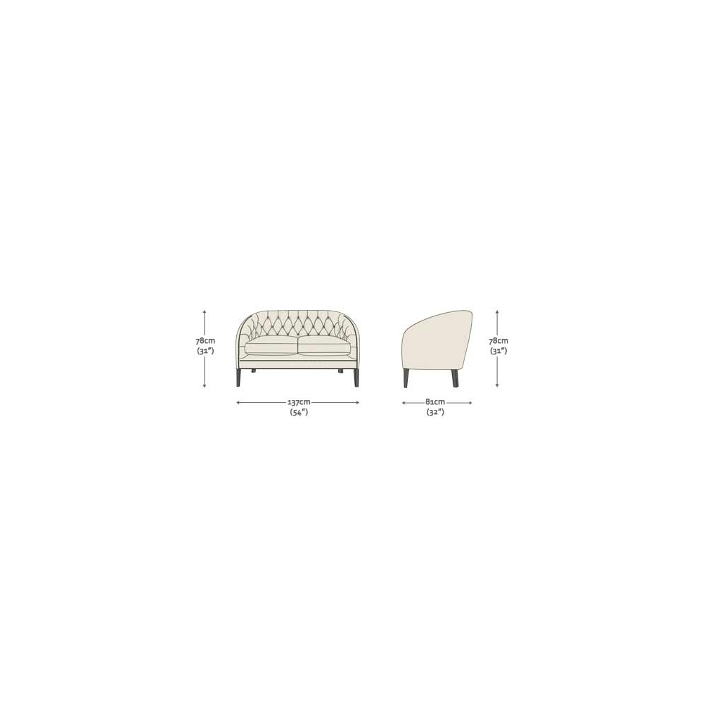 c69368ada33 Mayfair 2 Seater Sofa in Antique Gold with Dark Oak Legs - from ...