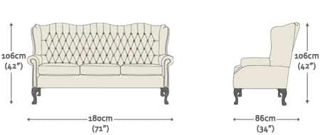 Classic 1 5 Seater Sofa Chair From Sofas By Saxon Uk