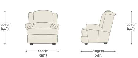 kendal recliner chair from sofas by saxon uk