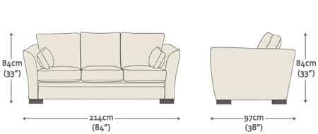 Kensington 3 Seater Sofa - from Sofas by Saxon UK