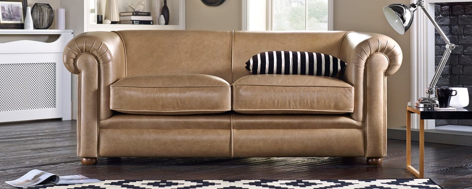 hampton 3 seater sofa bed from sofas by saxon uk. Black Bedroom Furniture Sets. Home Design Ideas