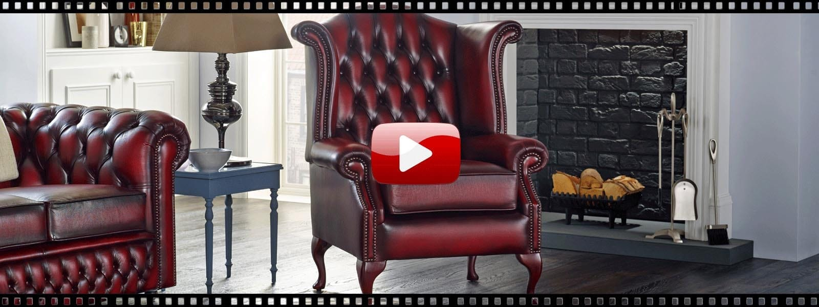 Seater queen anne high back wing sofa uk manufactured antique green - Watch Our Video