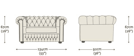 Buy A 3 Seater Chesterfield Sofa At Sofas By Saxon
