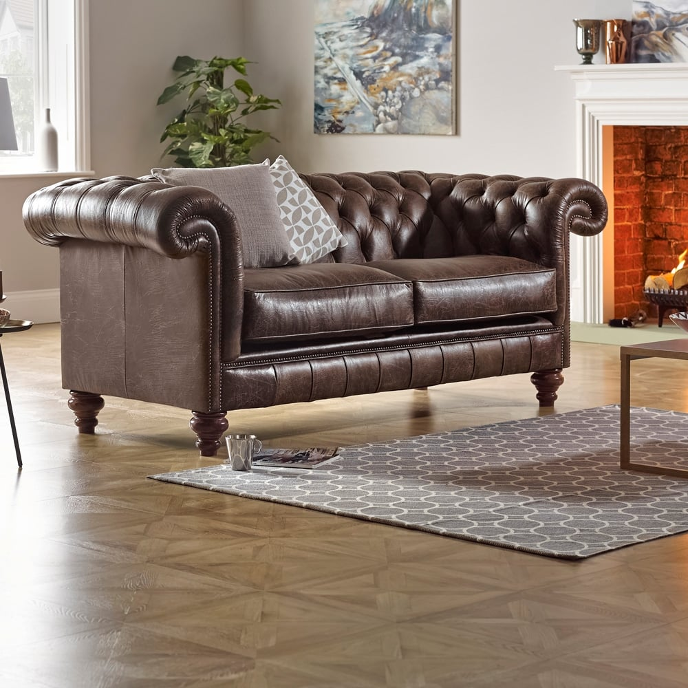 Chesterfield Sofa Saxon: Rochester 3 Seater Sofa