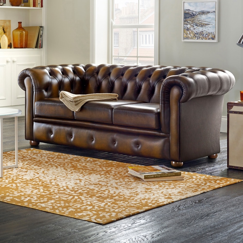 Winchester 3 Seater Shelly Black From Sofas By Saxon Uk